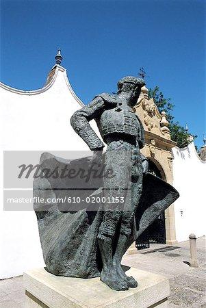 Spain, Andalusia, Ronda, plaza de Toros, monument to Manolete