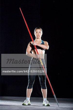 a female javelin thrower