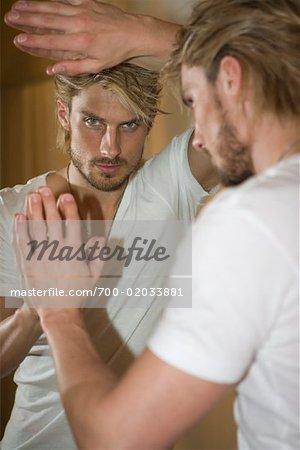 Portrait of Man's Reflection