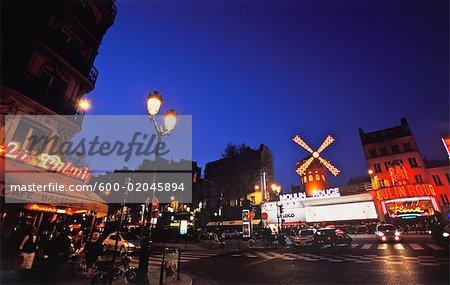 Street Scene at Night, Paris, France