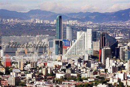 c5445588259b Vue d ensemble de la ville de Mexico, Mexique - Photographie de stock