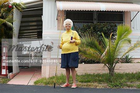 Portrait de Shuffleboard Champion, Florida, USA