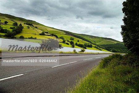Route à travers de Peak District, Angleterre