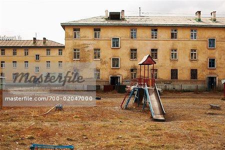Playground Outside Building, Ulaanbaatar, Mongolia