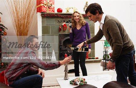 Amis de célébration de Noël