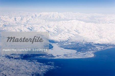 Luftbild der Küste von Alaska