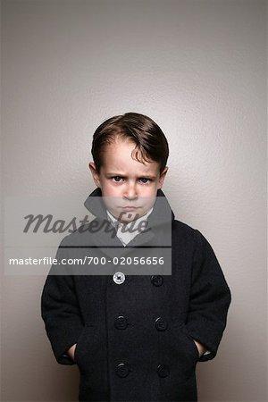 Portrait de garçon en veste