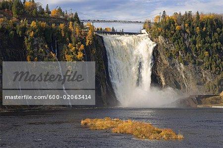 Wasserfälle, Montmorency, Quebec, Kanada