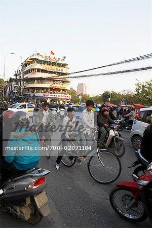 Scène de rue à Hanoi, Vietnam