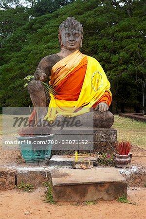 Statue de Bouddha, Angkor Thom, Temple du Bayon, Siem Reap, Cambodge
