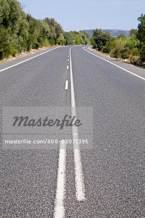 Centerline of Road, Mallorca, Spain