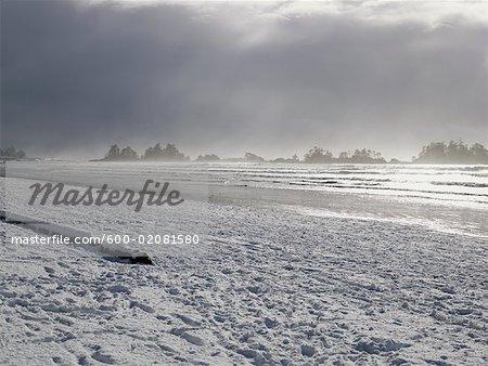 Long Beach im Winter, Tofino, Vancouver Island, British Columbia, Kanada