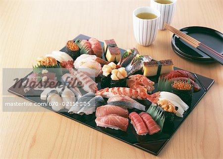 Nigiri-sushi assorti