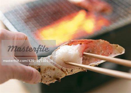 Crabe grillé