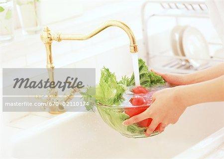 Laver les légumes