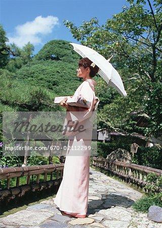 Femme portant un Kimono