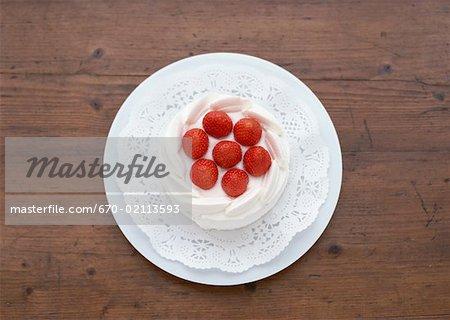 Gâteau sablé aux fraises