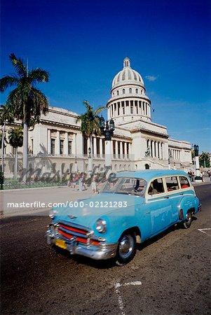 Scène Capitolio Nacional de Cuba et de la rue, la Havane, Cuba