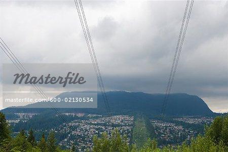 High Voltage Transmission Lines, Coquitlam, British Columbia, Canada
