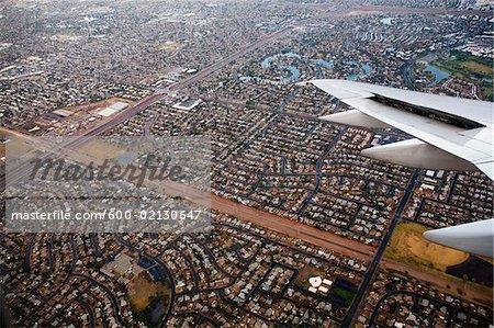 Vue Arial de Suburbia, Phoenix, Arizona, USA