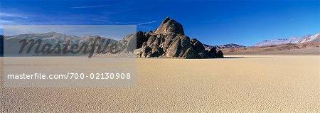 La tribune, Racetrack Playa, Death Valley, Californie, Etats-Unis