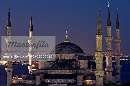 Mosquée bleue nuit, Istanbul, Turquie