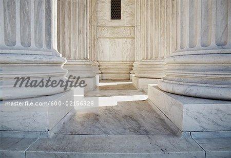Colonnes, Cour suprême, Washington, DC, USA