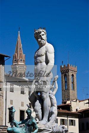 Fontaine de Neptune, Florence, Toscane, Italie