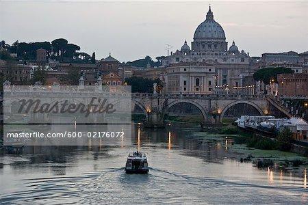 Ponte Sant ' Angelo, du Tibre, Rome, Latium, Italie