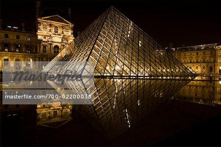 Lourve Pyramide, Louvre, Paris, Frankreich
