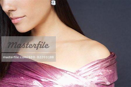 Close-up of Woman's Shoulder