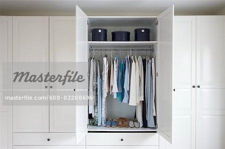 Organized Interior of Woman's Closet