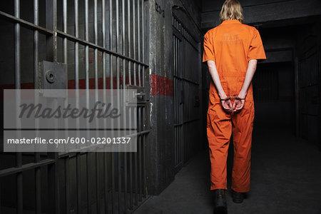 Prisoner Walking to Cell