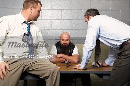 Detectives Interrogating Suspect