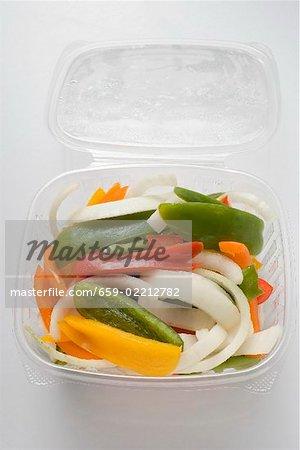 Légumes en tranches en barquette ouverte (frais généraux)