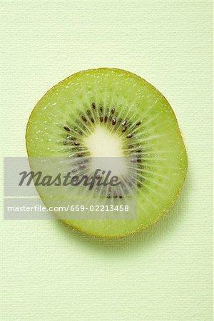 Slice of kiwi fruit (overhead view)