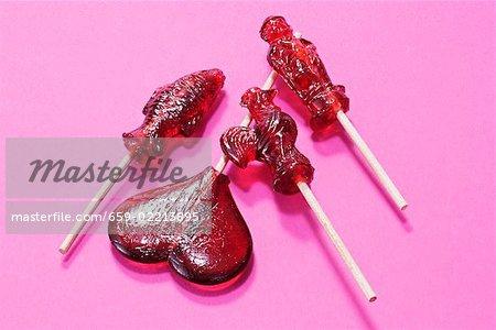 Four different lollipops