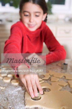 Mädchen Kekse Ausschneiden