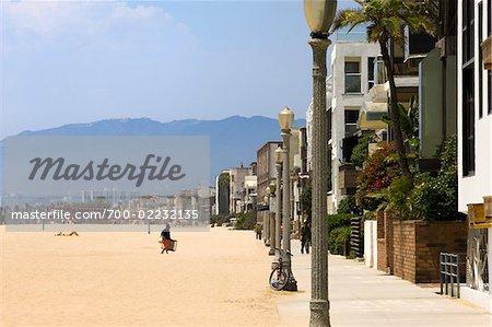 Vue de Venise la plage de Marina Del Rey, Los Angeles, Californie, USA