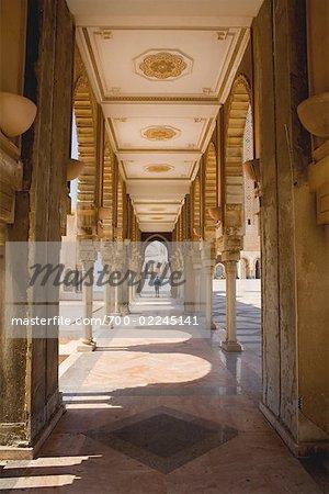 Portico of Hassan II Mosque, Casablanca, Morocco