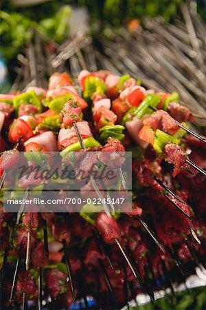 Pile of Shish Kebabs, Morocco