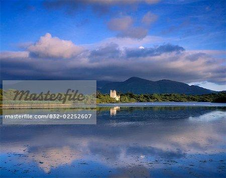 Muckross Lake, Ross Castle, Killarney, Co Kerry, Ireland