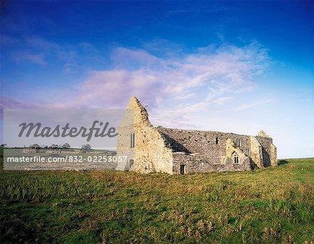 Monastère de Rathfran, Killala, Co Mayo en Irlande, couvent dominicain du 13ème siècle