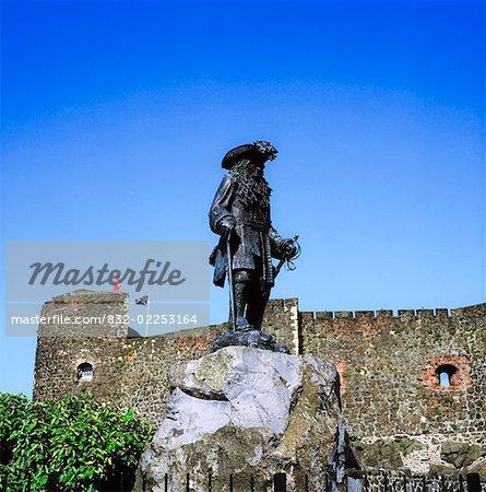 Statue of King William III (William of Orange), Carrickfergus Castle, Co Antrim, Ireland
