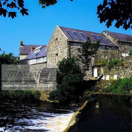La roue hydraulique, Bushmills, Co Antrim, Irlande