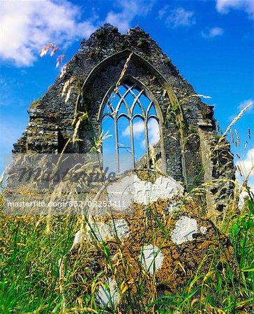 Prieuré de dominicaine Athenry, Co Galway, Irlande Athenry, 1Remains de fenêtre datant du 13ème siècle, Prieuré