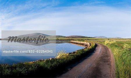 Co Galway, route côtière, près de Kinvarra