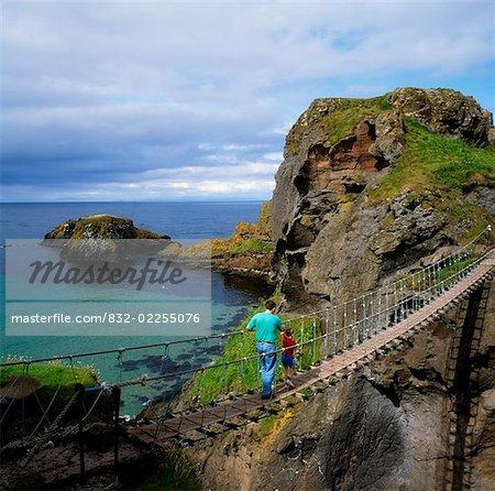 Carrick-a-Rede Rope Bridge, Co Antrim, Irlande