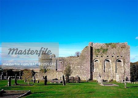 Abbaye de Ougheval, près de Stradbally, Co Laois, Irlande