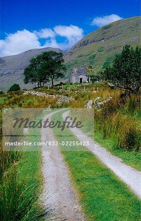 Black Valley, Parc National de Killarney, comté de Kerry, Irlande ; Boreen dans le parc